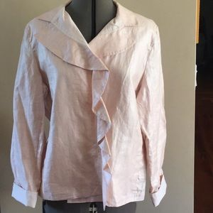 Chico's size 2 NWT shimmery pink top
